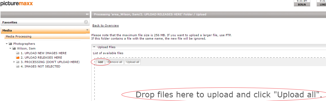 Drag and drop or add files